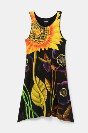 Sleeveless Sunflower Tank Dress - Marlon
