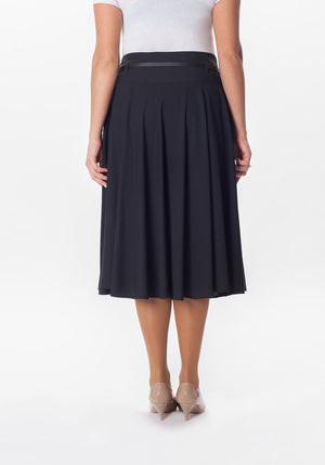 Flare Skirt - Black - Plus Sizes at {price}