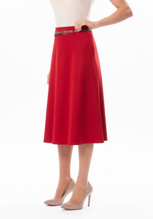 Semi Flare Belted Skirt at {price}