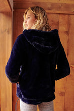 Load image into Gallery viewer, Free People Off The Record Hoodie - Navy Blue