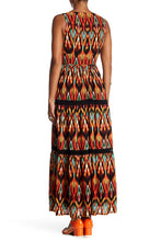 Load image into Gallery viewer, Maggy London Maxi Dress - Aztec Crepe Print - Missy & Women