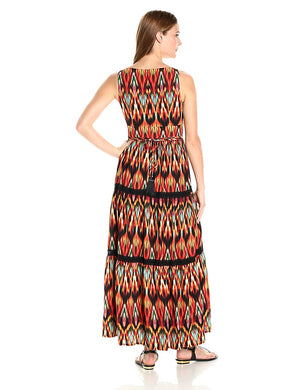 Maxi Dress - Aztec Crepe Print at {price}