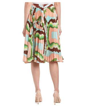 Printed Entire Pleats skirt at {price}