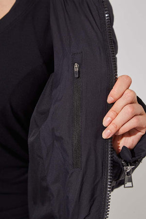 Stratosphere Black Slouchy Puffer Jacket