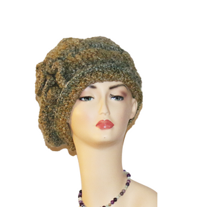 Queen Green Blouson Hat with Side Flower