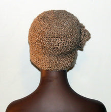 Load image into Gallery viewer, Queen Beige Crochet Hat with Side Flower