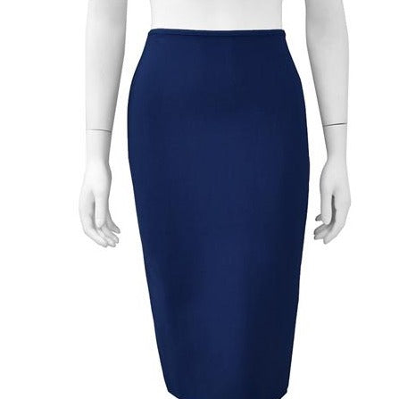 Bandage solid color midi skirt - Navy blue