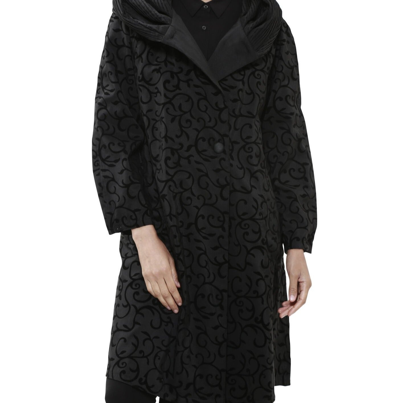 Donatella Scroll Tea Length Jacket