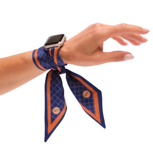 Wristpop - Blue Rugby Stripe Print - 100% Artificial Silk