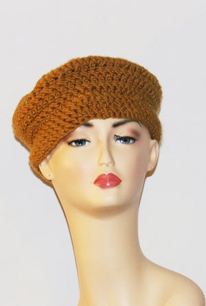 Queen Mustard Crochet Hat at {price}