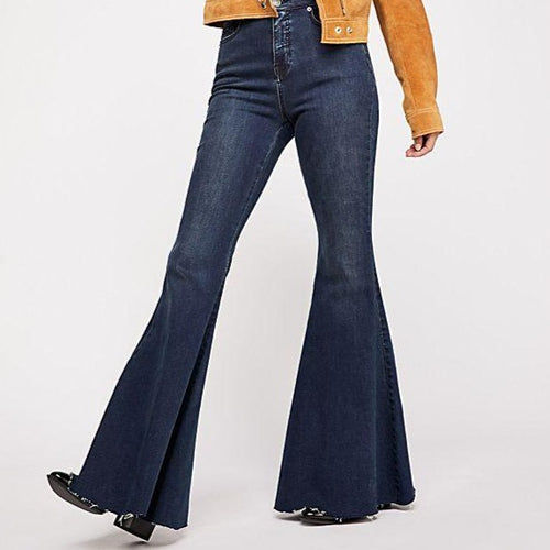 Free People CRVY Super High-Rise Lace-Up Flare Jeans