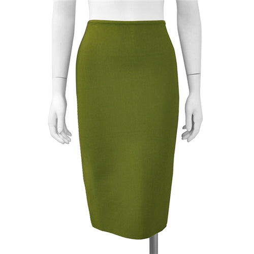 Bandage solid color midi skirt - Olive