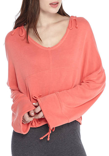Free People Movement Yella Hoodie - Hot Coral II