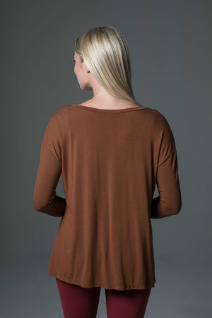 Perfect Long Sleeve Yoga Tee (Bronze)