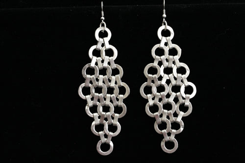 Chanour Antique Pewter Silver Circles Earrings
