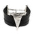Leather Unisex Wristband Bracelet with Triangle Pendant
