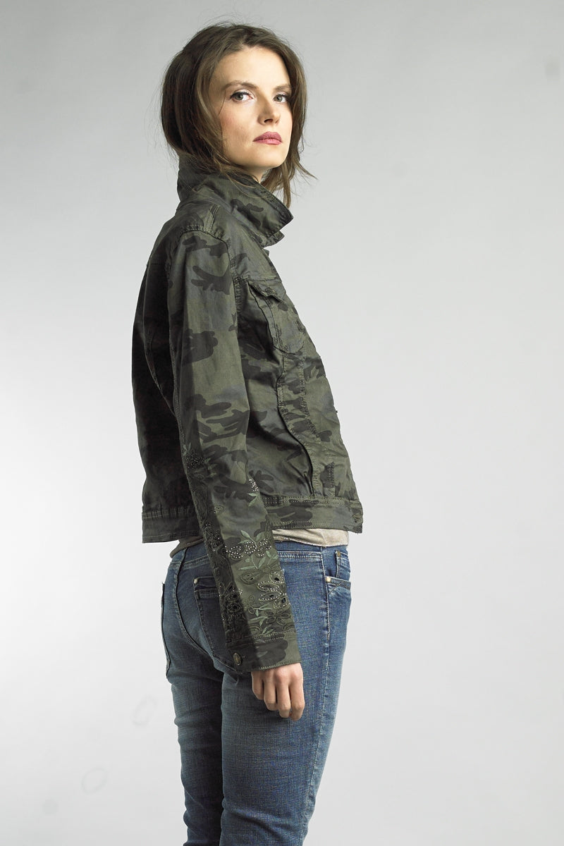 Embroidered Camo Jacket at {price}