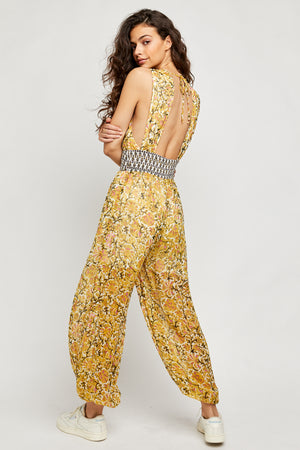 Maria's Soft Yellow Jumpsuit - Free People