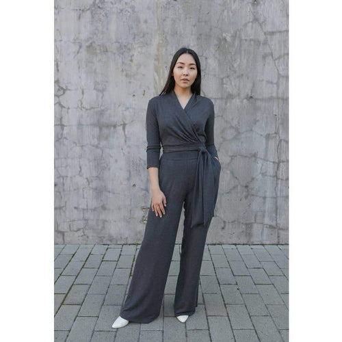 Taylor Jay London Jumpsuit - Charcoal Grey