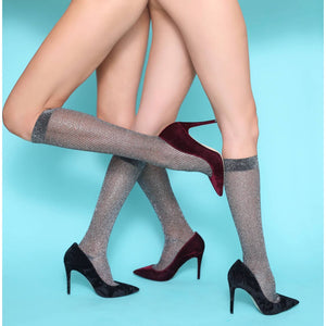 Gun Metal Knee High Sock at {price}