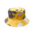 Tie Dye Bucket Hat - Yellow/Grey - 100% Cotton