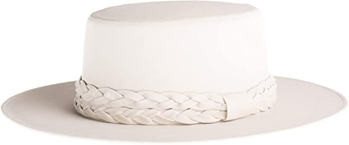 Off White Vegan Leather Cordobes Hat at {price}