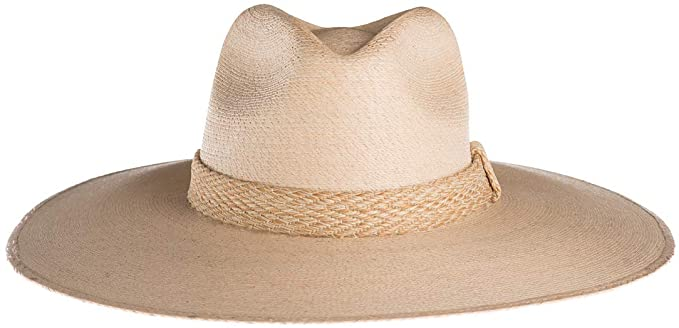 Serena Palm Leaf Fedora Hat at {price}