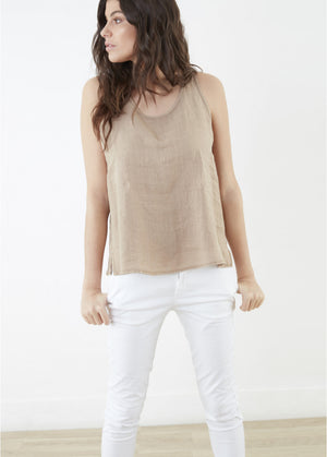 Lea Linen Tank Top at {price}