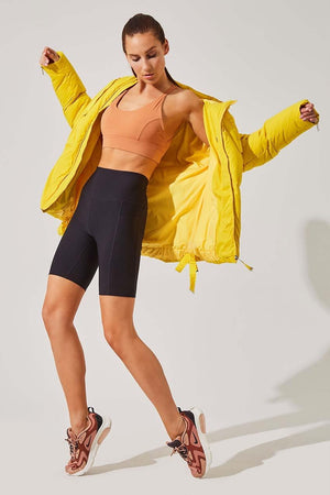 Stratosphere Yellow Slouchy Puffer Jacket