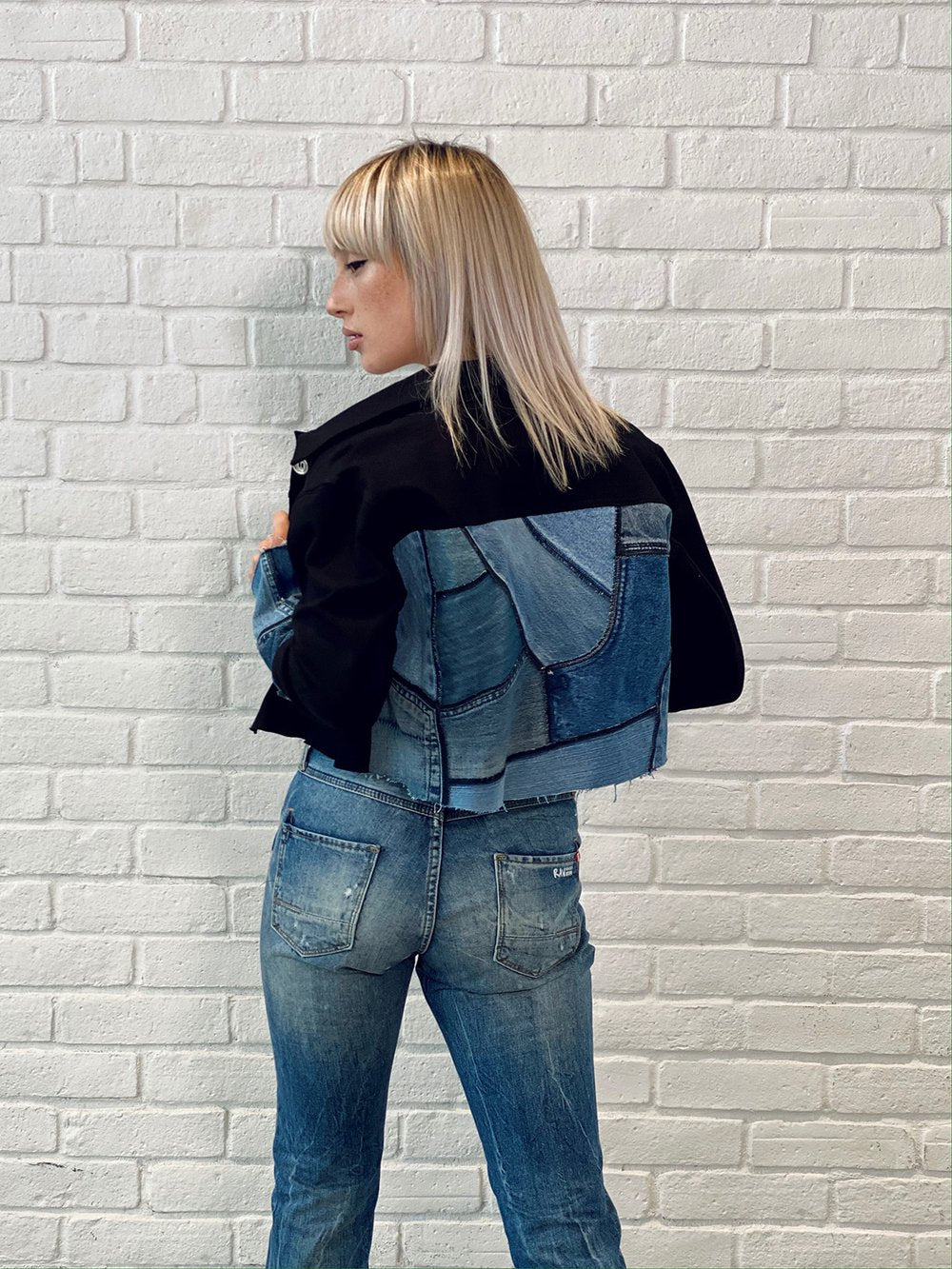Ink Crop Jacket - Remix Denim