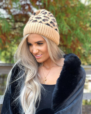 Leopard Print Beanie at {price}