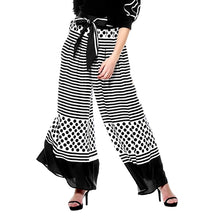 Load image into Gallery viewer, Gracia Stripe and Polka Dot Navy Pants