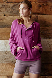 Free People Surfs Up Pullover - Raspberry