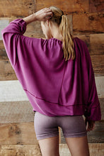 Load image into Gallery viewer, Free People Surfs Up Pullover - Raspberry