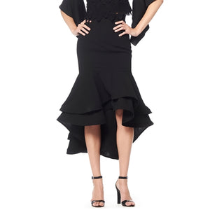 Double overlapped bottom ruffle skirt