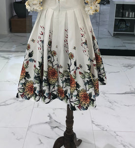 Gracia - Oriental printing gathered skirt