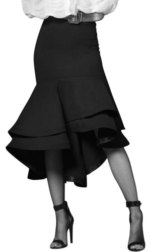 Double overlapped bottom ruffle skirt at {price}