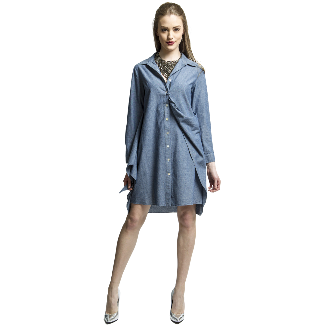 Indigo Transformable Shirt Dress