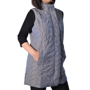Elongated Vest Mycra Pac Vest - Gunmetal