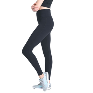 High Waist Legging with Contrast Knee Cap