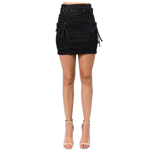 Denim Skirt - Belted
