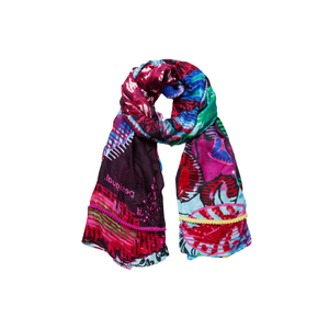 Rectangular Exotic Floral Scarf