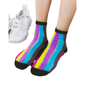 Purple Multi Stripe Patterned Socks
