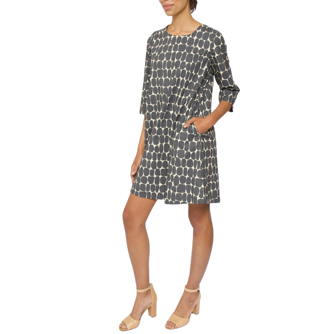 Thorid Shift 3/4 Sleeve Cotton Dress
