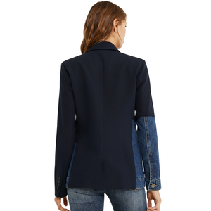 Hybrid Denim Blazer Jacket - Marine