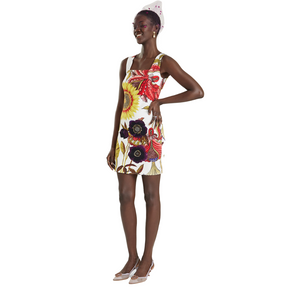 Sleeveless Sunflower Tank Dress - Glen