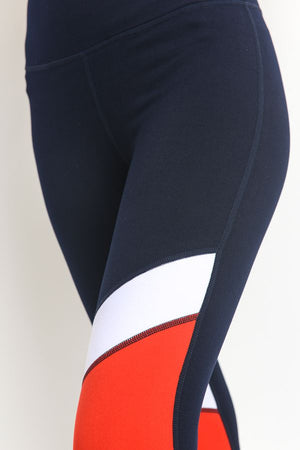Color Block Capri Leggings at {price}
