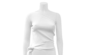 One Shoulder Side Ribbon Top at {price}