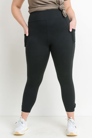 Bow Accent Leggings - Plus Sizes at {price}