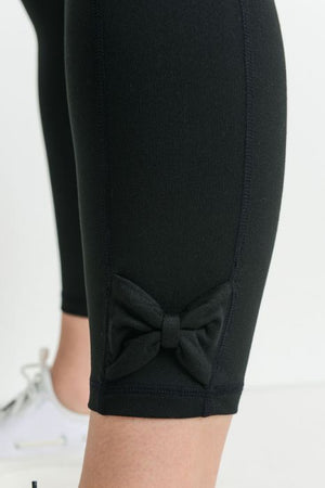 Bow Accent Leggings - Plus Sizes
